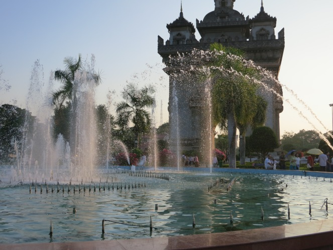 Patuxay Park, Vientiane, Laos
